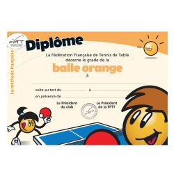 Diplôme méthode française - balle orange