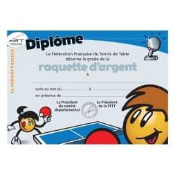Diplôme méthode française - raquette d'argent
