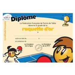 Diplôme méthode française - raquette d'or