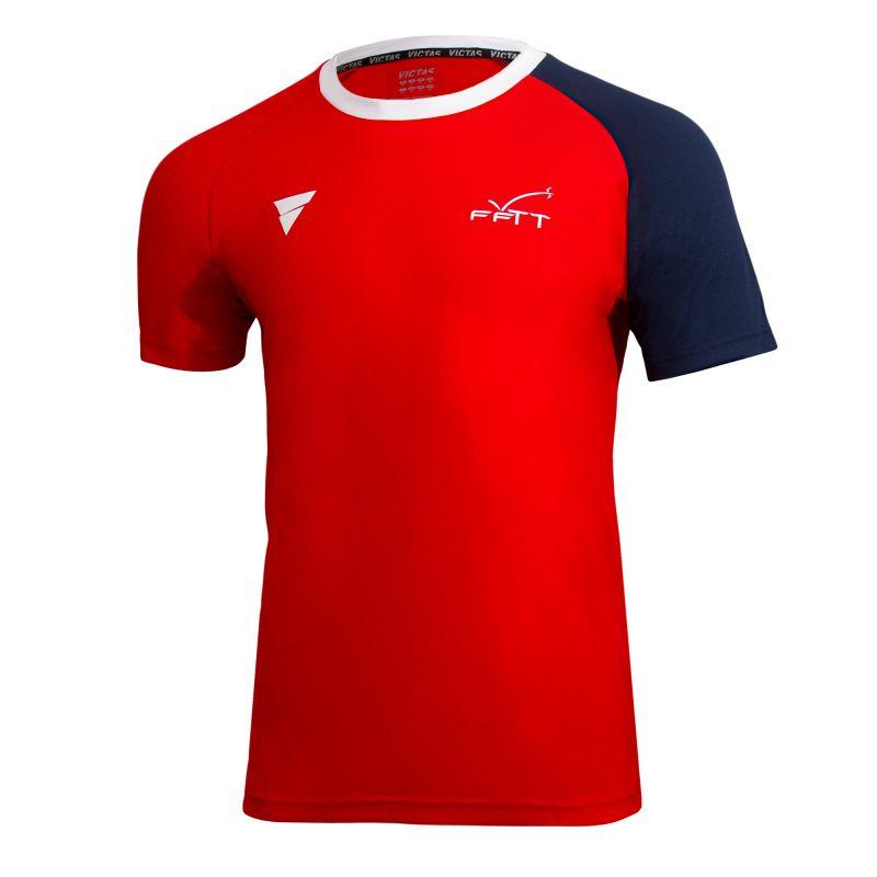 T-shirt D'entrainement Officiel ROUGE Equipe de Francre